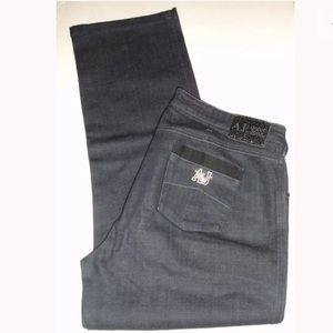 ARMANI JEANS AJ Dark Indigo Blue Jeans Size 34